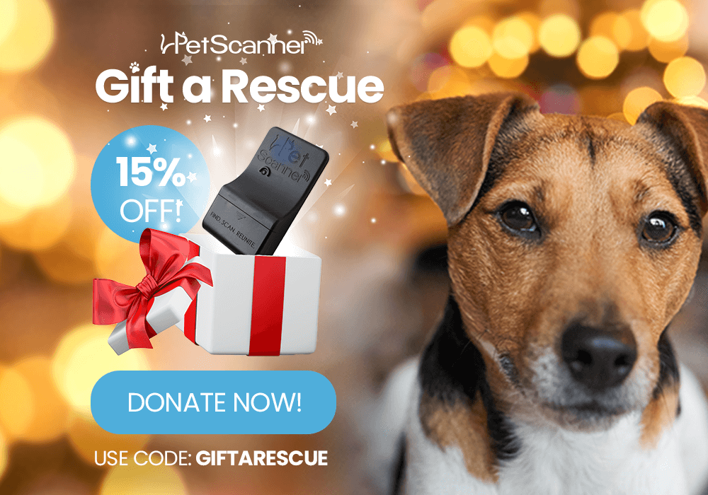 Gift a rescue with 15% off all PetScanners this Christmas