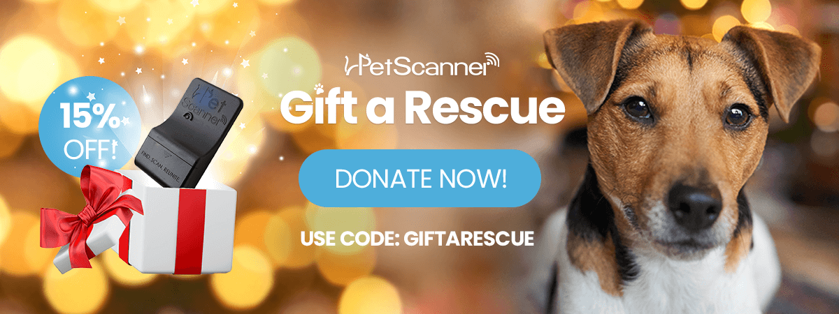 Gift a rescue with 15% off all PetScanners